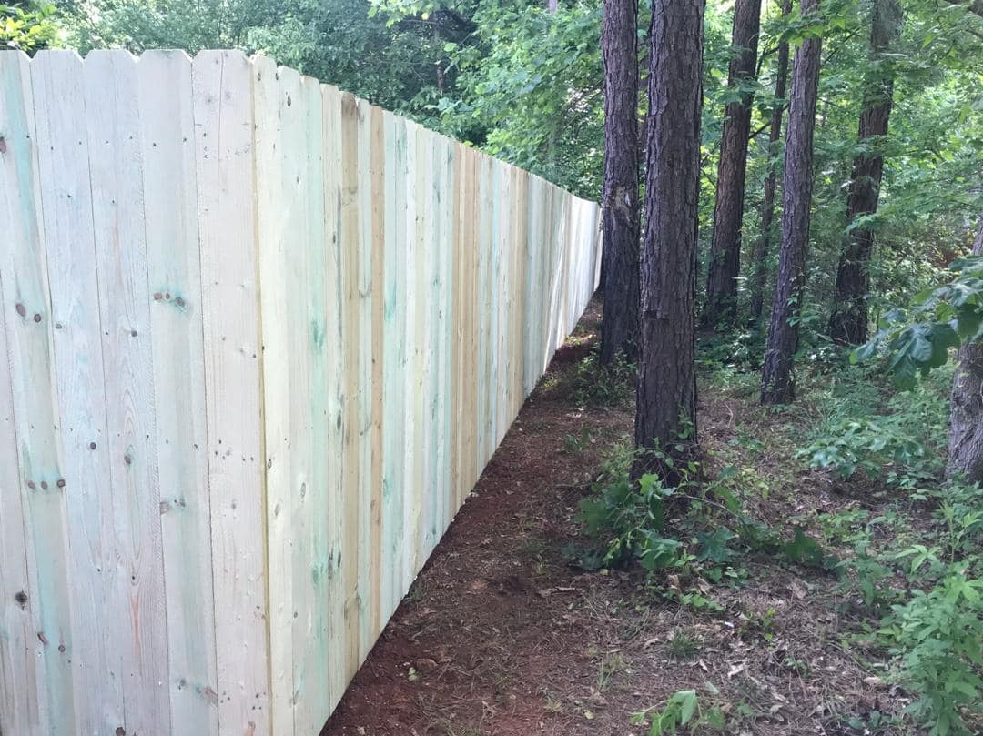 6' wood privacy fence