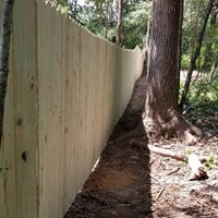 6' wood privacy