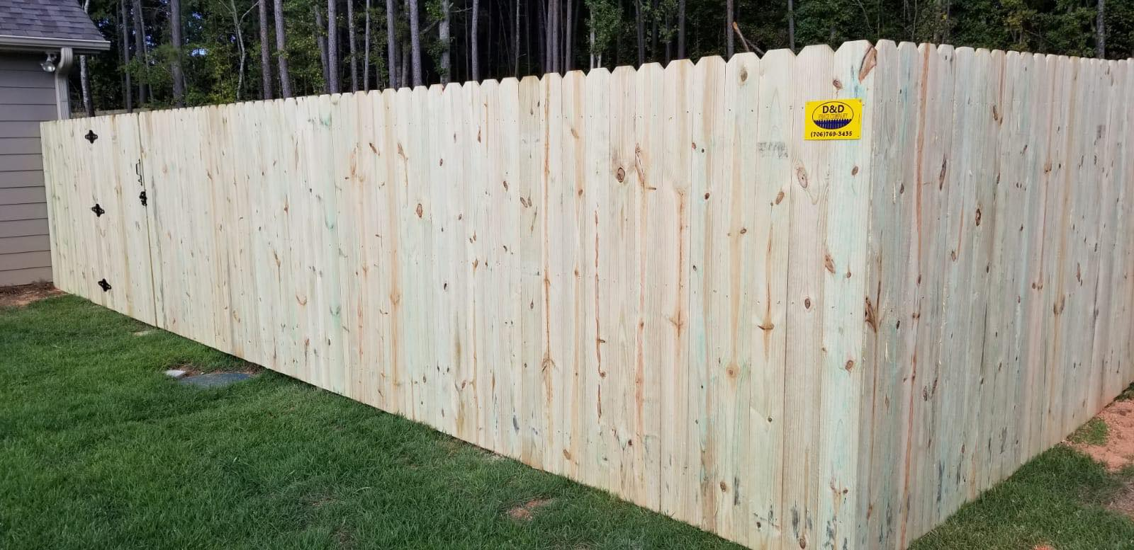 wood pine privacy