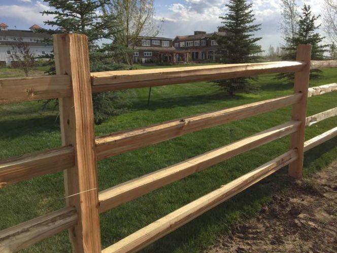 4 rail cedar split