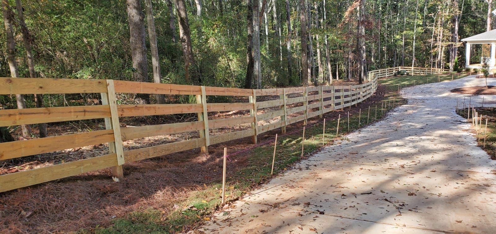 4 rough board fence